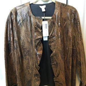 Chico's Kelsey Animal Snakeskin Reversible Leather